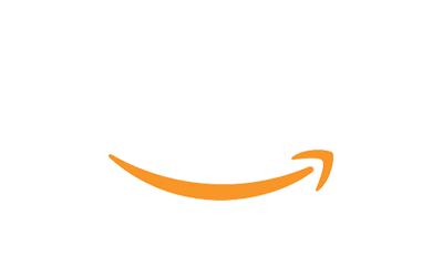 aws logo white orange arrow